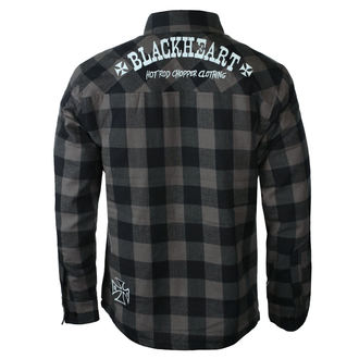 Muška košulja BLACK HEART - DUKE LINED - SIVA, BLACK HEART