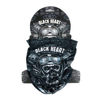 Ovratnik grijač BLACK HEART - PISTON SKULL - BLACK, BLACK HEART