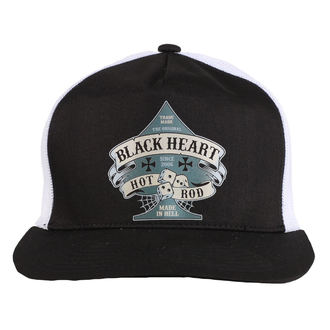 Kapa BLACK HEART - BELL - BIJELA, BLACK HEART