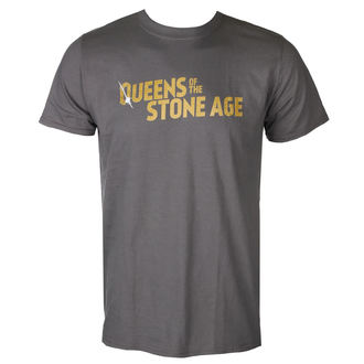 Muška metal majica Queens of the Stone Age - TEKST LOGO (METALIK) - PLASTIC HEAD