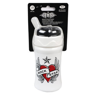 Dječja boca (340ml) ROCK STAR BABY - Heart & Wings, ROCK STAR BABY