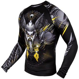 Muška termo majica dugih rukava Venum - Viking 2.0 Rashguard - Crna / Žuta, VENUM