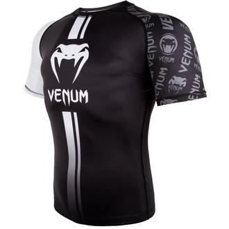 Muška termo majica Venum - Logos Rashguard - Crna / Bijela, VENUM