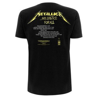 Muška metal majica Metallica - And Justice For All Tracks -, Metallica