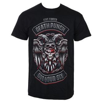 Muška majica Five Finger Death Punch - Biker Badge - Crna - ROCK OFF, ROCK OFF, Five Finger Death Punch