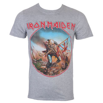 Muška majica Iron Maiden - Trooper - Siva - ROCK OFF, ROCK OFF, Iron Maiden