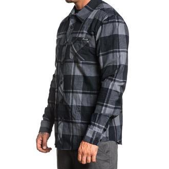 Muška košulja SULLEN - OIL STAIN - BLACK / SIVA, SULLEN