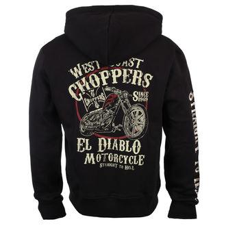 Muška majica s kapuljačom - EL DIABLO - West Coast Choppers, West Coast Choppers