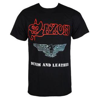Muška metal majica Saxon - DENIM & LEATHER - RAZAMATAZ, RAZAMATAZ, Saxon