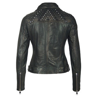 Ženska kožna jakna - METTAL / CRNA - NNM, NNM
