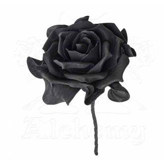 Ukras ALCHEMY GOTHIC - Jedna crna ruža sa stabljikom, ALCHEMY GOTHIC