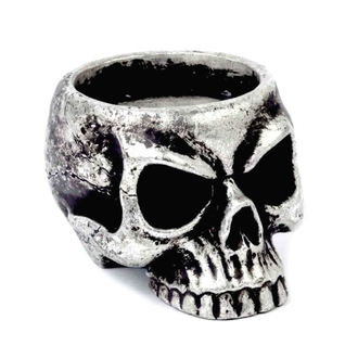 Držač za svijeću (Ukras) ALCHEMY GOTHIC - Skull Tea, ALCHEMY GOTHIC