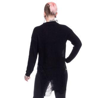 Ženski džemper Vixxsin - SLIT NECK DECAY - CRNA, VIXXSIN