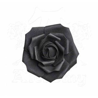 Ukras ALCHEMY GOTHIC - Mala crna ruža, ALCHEMY GOTHIC