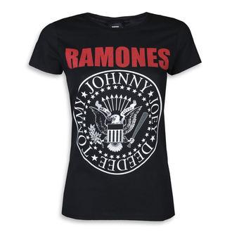 Ženska metal majica Ramones - RED TEXT SEAL LOGO - PLASTIC HEAD, PLASTIC HEAD, Ramones