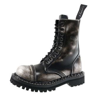 boty STEADY´S - 10 dírkové - White black, STEADY´S