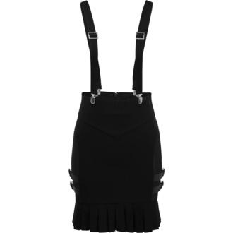 Ženska suknja KILLSTAR - Synth Suspender - CRNA - KSRA001636