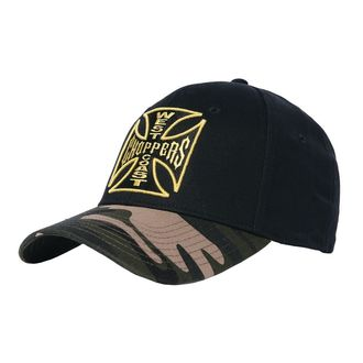 Kapa WEST COAST CHOPPERS - CAMO WARRIOR - Crna, West Coast Choppers