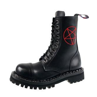 boty STEADY´S - 10 dírkové - Pentagram red, STEADY´S