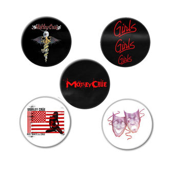 Bedževi Mötley Crüe - DR FEELGOOD - RAZAMATAZ, RAZAMATAZ, Mötley Crüe