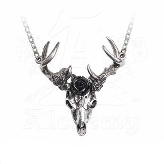 Ogrlica ALCHEMY GOTHIC - White Hart Black Rose, ALCHEMY GOTHIC