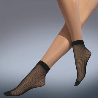 Čarape (najlonke) LEGWEAR - fishnet ankle highs - crno, LEGWEAR