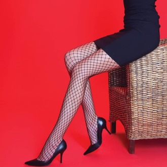 Najlonke LEGWEAR - Medium net - Black, LEGWEAR