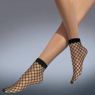 Čarape (najlonke) LEGWEAR - whale net ankle highs - crno, LEGWEAR